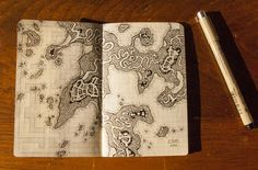 HEATHER SOULIERE ART: My Little Book of Dungeon Maps