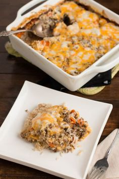 quick and easy ground beef and rice casserole ohsweetbasil.com