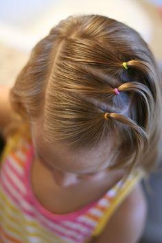 Une coiffure simple et mignonne