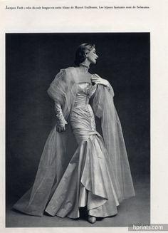 Jacques Fath 1950 Evening Gown, Marcel Guillemin, Philippe Pottier