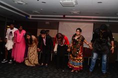 The team taking a bow at the end. Play #1 #Tingfisher's Bolly Fiesta