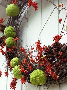Hedge Apple Grapevine Wreath
