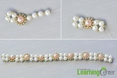 make the second part of the handmade pink and white pearl bracelet