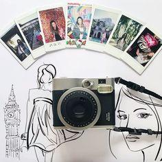 Renata Ferraz l Blog Get Trendy; instaxmini 90; cameras instantaneas; illustration