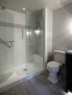 Emser Tile Vogue x Ceramic and Glass Double Bullnose Tile Trim in White Matte Master Bathroom Shower, Small Bathroom, Bathroom Ideas, White Bathroom, Shower Ideas, Peach Bathroom, Bathroom Designs, Bathroom Showers, Bathroom Pics