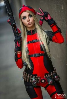 Cosplay Anime Costume Lady Deadpool by Chrystafettcosplay - More memes, funny videos and pics on Deadpool Cosplay, Lady Deadpool, Superhero Cosplay, Cosplay Anime, Marvel Cosplay, Cosplay Girls, Female Deadpool, Amazing Cosplay, Best Cosplay