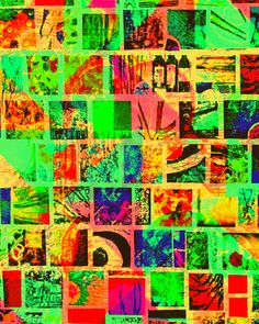8 x 10 Paper Mosaic Print 128abc Wall Picture Artwork Art Abstract Squares Colorful Collage Photo Photograph Red Yellow Green Blue Orange by Concepts2Canvas on Etsy