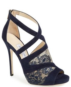 gorgeous #JimmyChoo #blue lace and suede sandals http://rstyle.me/n/htm6ir9te