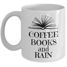 Book lover mug - Coffee books and rain - Rain lover reading time cozy tea cup Gun Lover Gifts, Book Lovers Gifts, Coffee And Books, Coffee Mugs, Quotes For Book Lovers, Gifts For Readers, Reading Time, Gifts For Husband, Book Worms