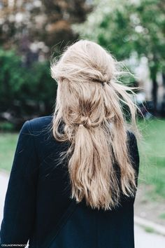 Messy, textured, wind blown, layered locks @thecoveteur