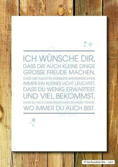 """Mercy blessing for Christmas and winter time + """"I wish you, … – Sprüche – Geburtstag Birthday Greetings, Birthday Wishes, Birthday Cards, The Words, German Quotes, Lettering, Birthday Quotes, Birthday Ideas, Decir No"""