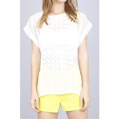 White Laser Cut Patterned Top Excellent top! Perfect for any season. Bright white! Laser cut patterned top, no flaws! Purchased from a boutique. Umgee Tops Blouses