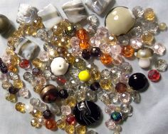 Mixed beads bead lots glass beads by RosariesbyEsther on Etsy