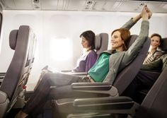 Stretch out in Lufthansa's new Premium Economy class. travel & #save up to 50% on airfare with #AirConcierge.com