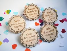 Personalised Engraved Wooden Bridal Party Gift Set - Bride to Be