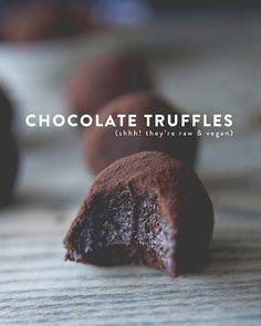 RAW + VEGAN CHOCOLATE TRUFFLES   The Kitchy Kitchen   Bloglovin'