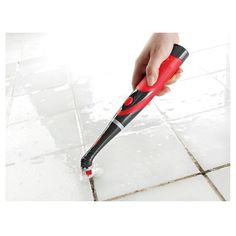 This Rubbermaid Reveal scrubber is literally the best tool I have for cleaning. It's great for tile, grout and hard-to-reach spaces!