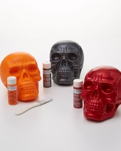 Take these regular foam skulls from grim to glam with a little craft paint from Martha Stewart Crafts.