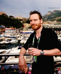 Wine with Michael Fassbender.