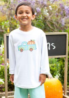 Pumpkin Truck Applique T Shirt