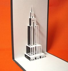 Empire State Building in New York Pop Up Card
