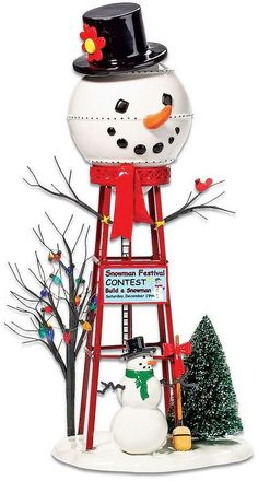 Department 56 Snowman Water Tower Village Decor https://api.shopstyle.com/action/apiVisitRetailer?id=494834343&pid=uid8100-34415590-43