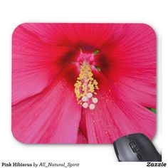 Make a Statement with this Pink Hibiscus Mousepad! See it on more customisable products @ https://www.zazzle.com/z/ym5fb?rf=238562247198752459 #Pink #Hibiscus #Pretty #Hot #Statement #Style #FineArt #Photo #Flowers