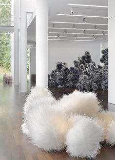 Tara Donovan (b. 1969, New York) creates large-scale installations and sculptures made from everyday objects. Known for her commitment to process, she has earned acclaim for her ability to discover the inherent physical characteristics of an objec...