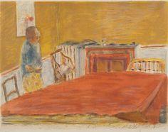 """Pierre Bonnard, """"LE TAPIS ROUGE""""."""