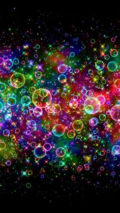 Colorful Neon Light Bubbles