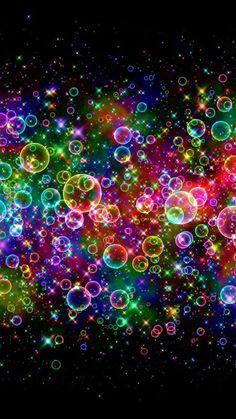 Colorful Neon Light Bubbles
