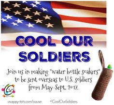 Please join us in supporting our U. Troops stationed in hot climates with our new project: Cool Our Troops. Last year my son spent 6 months in Africa with the Crochet Home, Free Crochet, Crochet Bags, Scrubby Yarn, Making Water, Independance Day, Troops, Soldiers, Red Heart Yarn