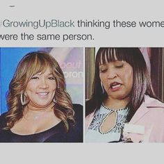 Growing up black. KIM WHITLEY [LEFT] AND Jackee Harris [RIGHT]