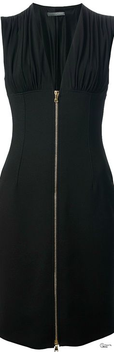 Alexander McQueen ● Black Zip Front Dress
