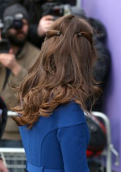Catherine Duchess of Cambridge hair detail visits CBUK Stratford on January 11 2017 in London England #hair