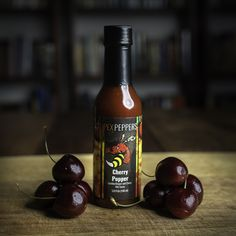 Just added! PexPeppers latest super hot insanity, Cherry Popper. Carolina Reaper mash, combined with dark cherries, and wildflower honey. Simple ingredients, awesome flavor, and unforgettable heat. Grab some today at Doc Hotties! Hot Sauces, Extreme Heat, Cherries, Hot Sauce Bottles, Tart, Honey, Fruit, Simple, Awesome