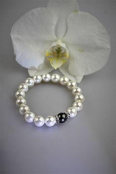 Sima-polodrahokamy / perly náramok