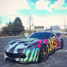 The Corvette Stingray is one of the most popular sports cars of all time. The Stingray goes all the way back to the and is still produced today. Exotic Sports Cars, Cool Sports Cars, Car Paint Jobs, Street Racing Cars, Mc Laren, Best Luxury Cars, Sweet Cars, Cute Cars, Chevrolet Corvette