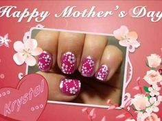 Border Nail art Festa della Mamma...Happy Mother s day nail art. #NailedIT check out www.ThePolishObsessed.com for more nail art ideas.