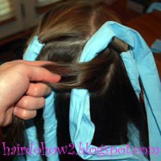rag curls how-to from a blog of girl hairstyles (braids, twists, curls, etc.)