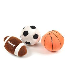 Take a look at this Sports Rattle Ball Set by Linzy Toys on #zulily today!