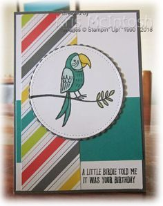 I was so happy with the card I made for Stephanie's challenge that I just had to create another. I stamped the greeting from the Bird Banter stamp set onto the lower right hand corner of Whi…