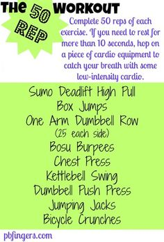 The 50 Rep Workout - Peanut Butter Fingers