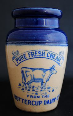 Buttercup Dairy Co. - Antique Cream Pot | Flickr - Photo Sharing!