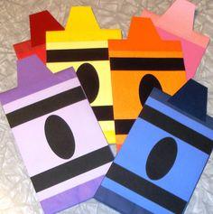 Crayon Treat Sacks Color Rainbow Art School Theme by jettabees $15.00 & ra door decs templates | Door Dec | Part Time Human Being | RA ...