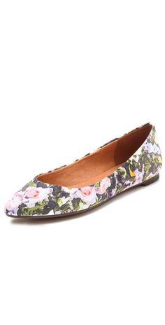Madewell Floral Skimmer Flats
