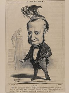 Honore Daumier: Caricature /Satire Lithograph