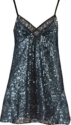 SAINT LAURENT  women's sequinned lace slip dress in black