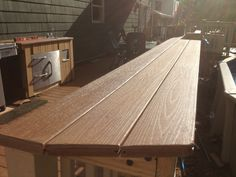 Counter as part of deck railing
