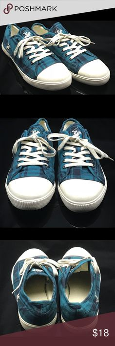Beverly Hills Polo Club Women's Sneaker Textile Beverly Hills Polo Club Women's Sneaker Textile Shoes Navy/Blue Plaid Size 11 Shoes Sneakers